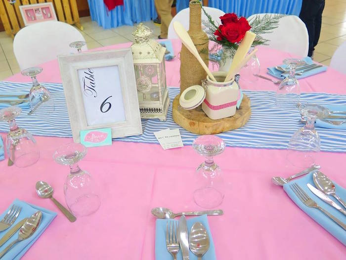 Guest Tablescape from a Little Chef Birthday Party via Kara's Party Ideas! KarasPartyIdeas.com (24)