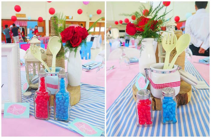 Table Centerpieces from a Little Chef Birthday Party via Kara's Party Ideas! KarasPartyIdeas.com (22)