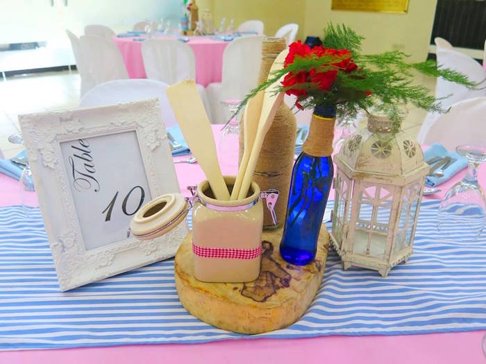 Guest Table Centerpieces + Assignment Signage from a Little Chef Birthday Party via Kara's Party Ideas! KarasPartyIdeas.com (21)