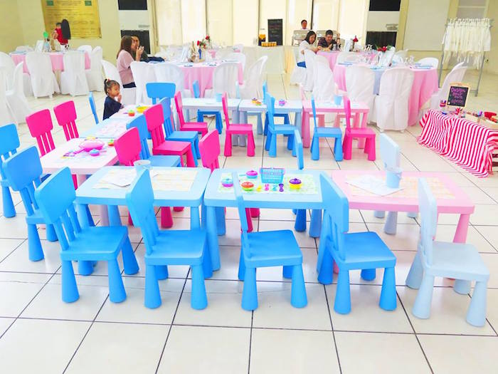Kid Tables from a Little Chef Birthday Party via Kara's Party Ideas! KarasPartyIdeas.com (17)