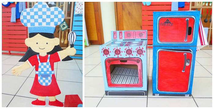 Custom Little Chef + Appliance Props from a Little Chef Birthday Party via Kara's Party Ideas! KarasPartyIdeas.com (15)
