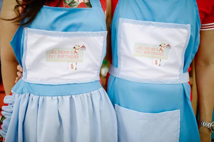 Custom Aprons from a Little Chef Birthday Party via Kara's Party Ideas! KarasPartyIdeas.com (9)