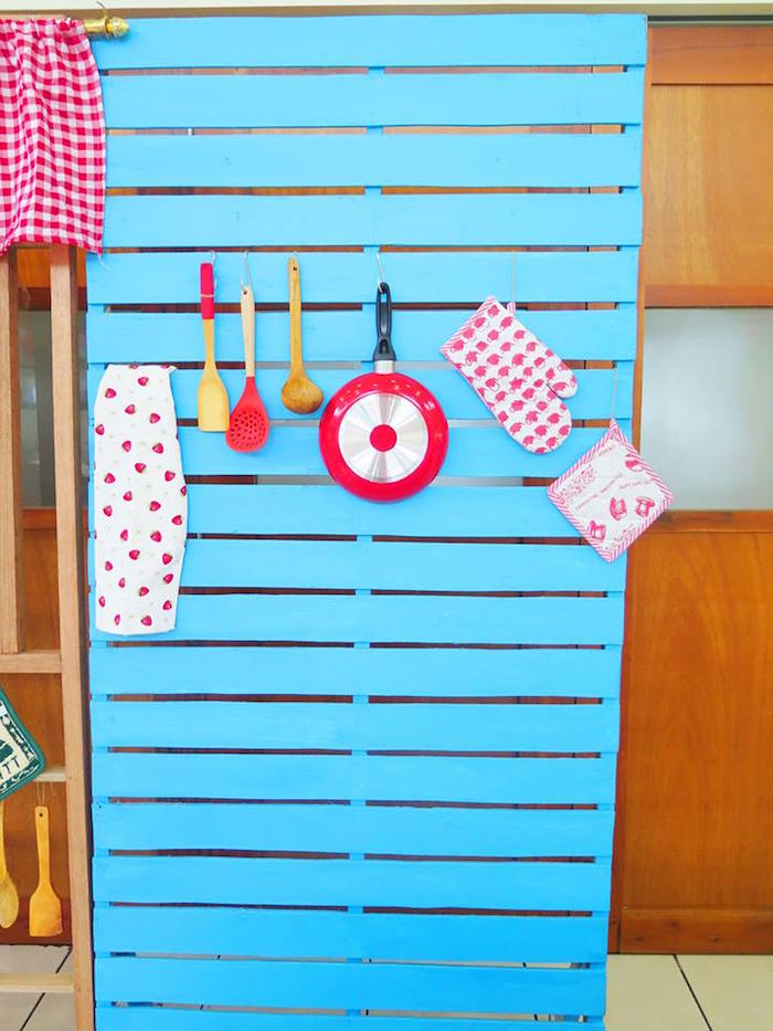Kitchen Backdrop Panel from a Little Chef Birthday Party via Kara's Party Ideas! KarasPartyIdeas.com (5)