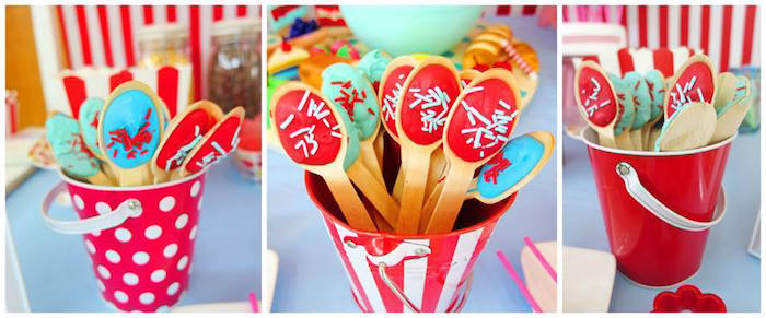 Spoon Favors from a Little Chef Birthday Party via Kara's Party Ideas! KarasPartyIdeas.com (1)