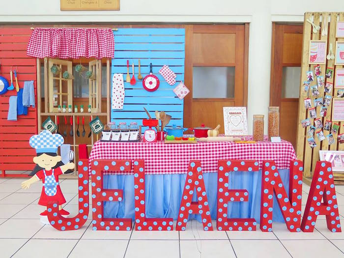 Table + Decor from a Little Chef Birthday Party via Kara's Party Ideas! KarasPartyIdeas.com (40)