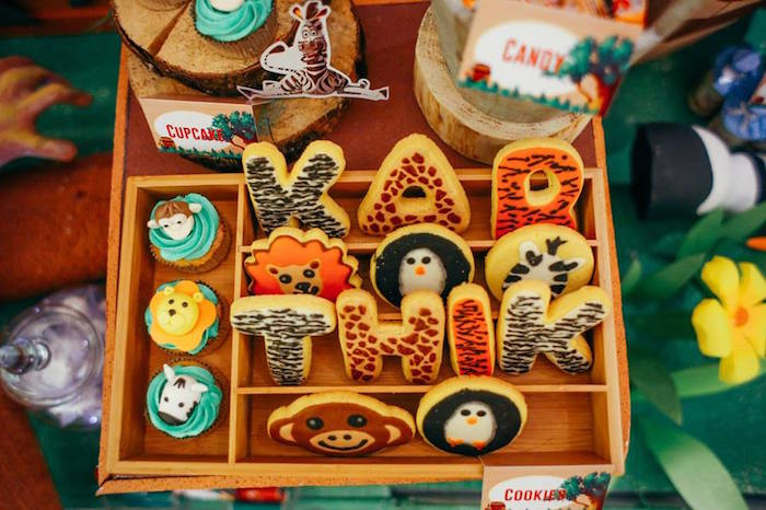 Cupcakes + Cookies from a Madagascar Birthday Party via Kara's Party Ideas KarasPartyIdeas.com (17)