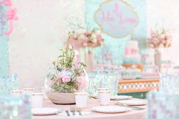 Guest Tablescape from a Mermaid Oasis Themed Birthday Party via Kara's Party Ideas | KarasPartyIdeas.com (50)