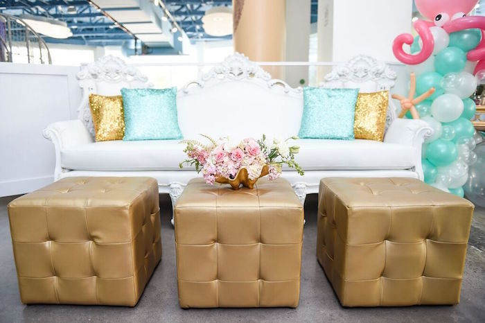 Lounge Area from a Mermaid Oasis Themed Birthday Party via Kara's Party Ideas | KarasPartyIdeas.com (38)