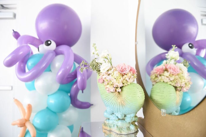 Decor from a Mermaid Oasis Themed Birthday Party via Kara's Party Ideas | KarasPartyIdeas.com (30)