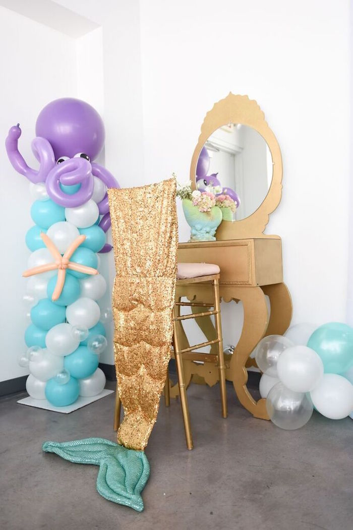 Decor from a Mermaid Oasis Themed Birthday Party via Kara's Party Ideas | KarasPartyIdeas.com (29)