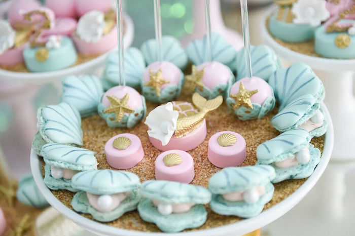 Sweets from a Mermaid Oasis Themed Birthday Party via Kara's Party Ideas | KarasPartyIdeas.com (27)