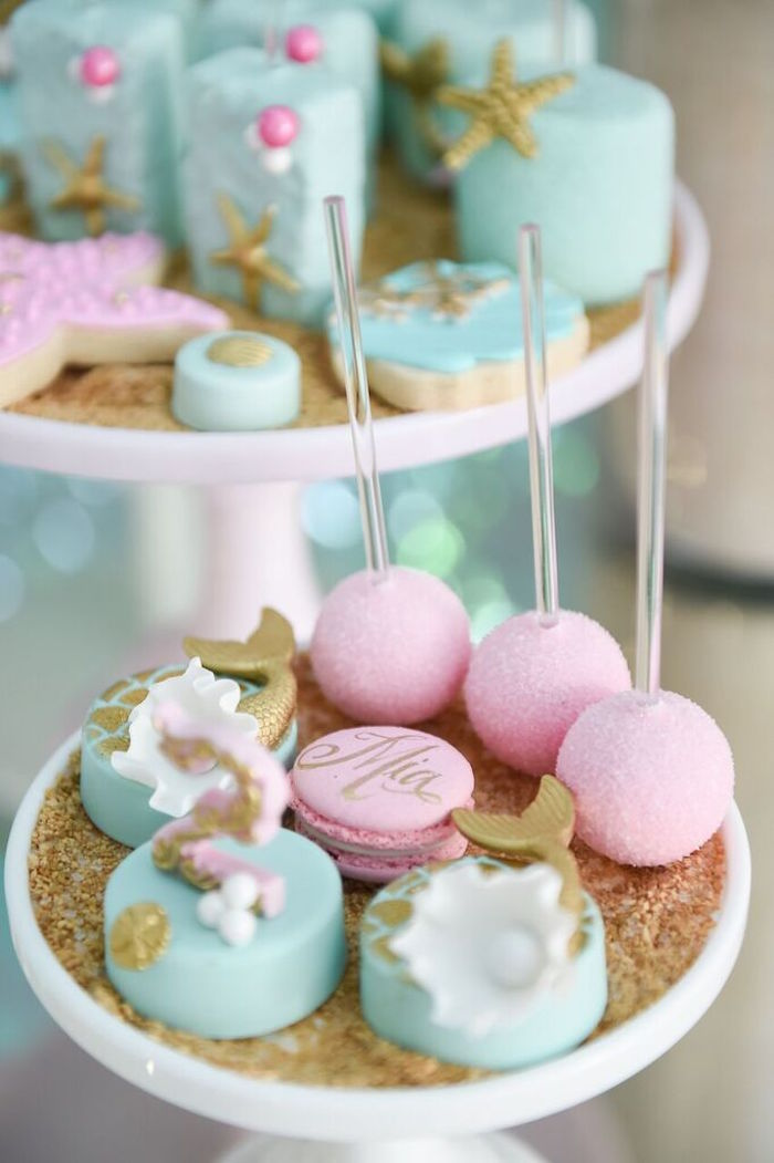 Sweets from a Mermaid Oasis Themed Birthday Party via Kara's Party Ideas | KarasPartyIdeas.com (26)