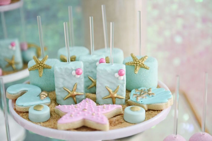 Sweets from a Mermaid Oasis Themed Birthday Party via Kara's Party Ideas | KarasPartyIdeas.com (25)