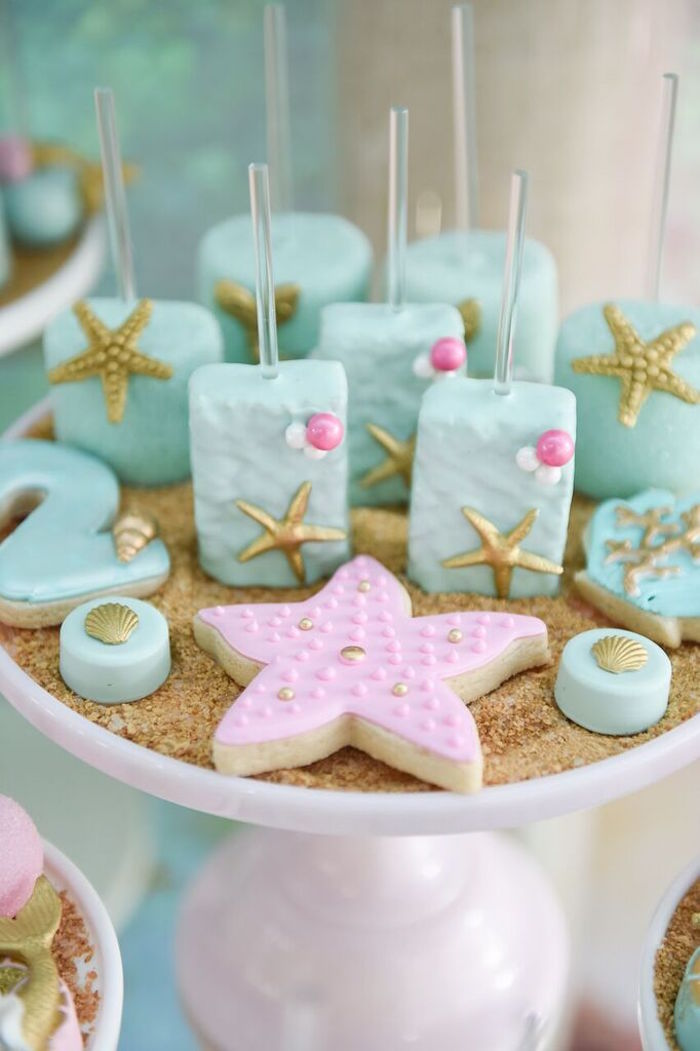 Sweets from a Mermaid Oasis Themed Birthday Party via Kara's Party Ideas | KarasPartyIdeas.com (24)