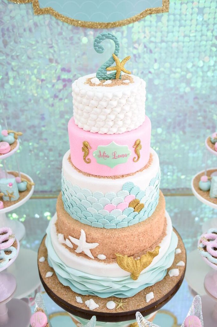 Birthday Cake Ideas Mermaid : Kara s Party Ideas Mermaid Oasis Themed Birthday Party ...