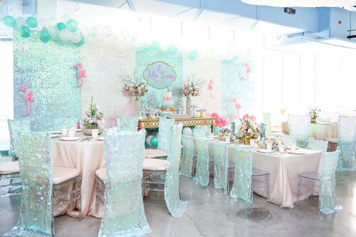 Partyscape from a Mermaid Oasis Themed Birthday Party via Kara's Party Ideas | KarasPartyIdeas.com (58)