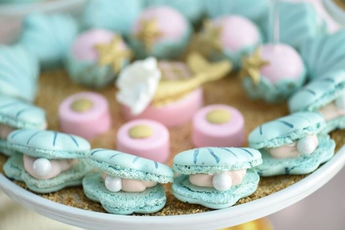 Clam + Pearl Cookies from a Mermaid Oasis Themed Birthday Party via Kara's Party Ideas | KarasPartyIdeas.com (12)