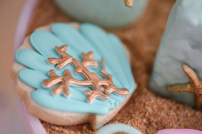 Cookie from a Mermaid Oasis Themed Birthday Party via Kara's Party Ideas | KarasPartyIdeas.com (7)