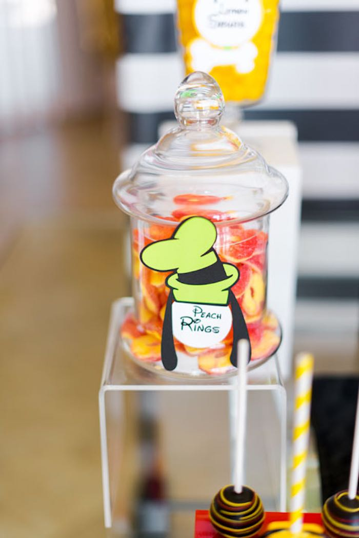 Peach Rings from a Mickey & Friends Birthday Party via Kara's Party Ideas | KarasPartyIdeas.com (19)