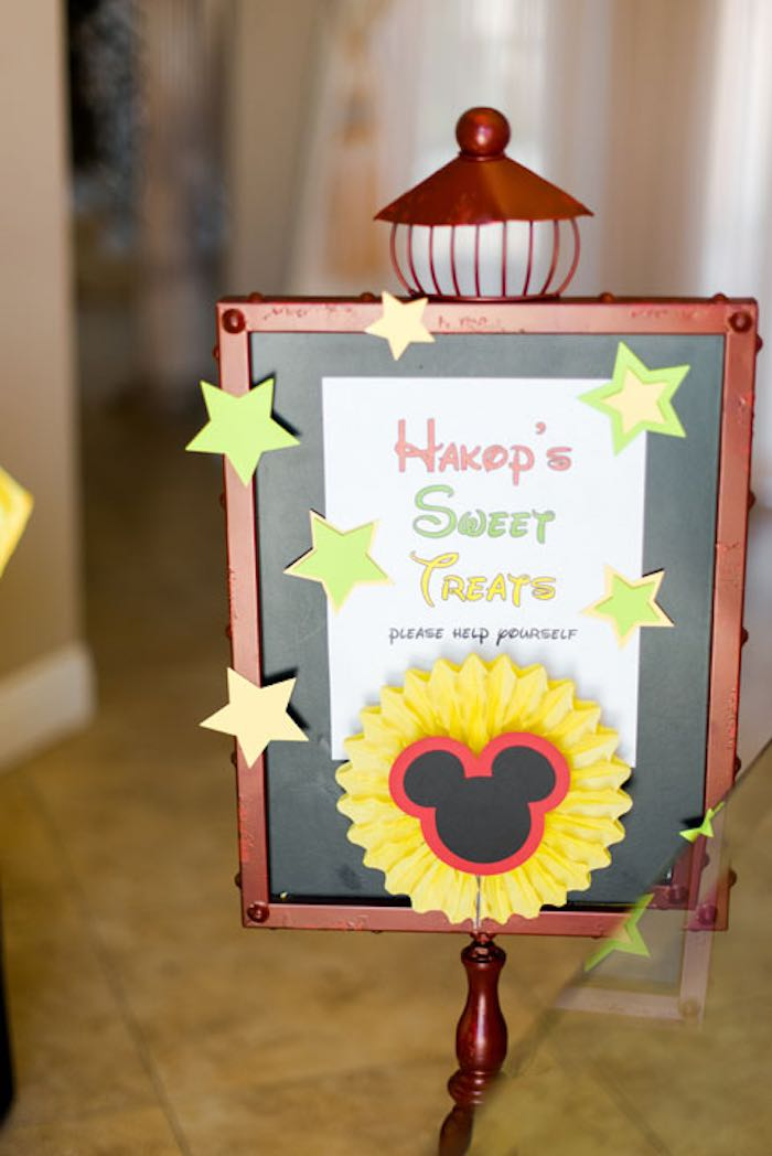 Sign + Stationery from a Mickey & Friends Birthday Party via Kara's Party Ideas   KarasPartyIdeas.com (18)