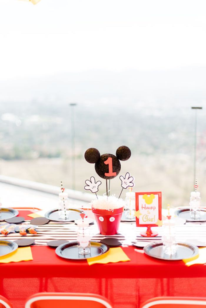 Guest Table Details from a Mickey & Friends Birthday Party via Kara's Party Ideas | KarasPartyIdeas.com (14)
