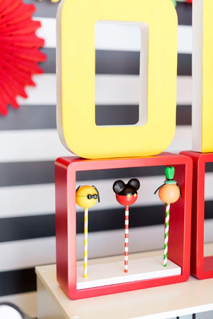 Cake Pops from a Mickey & Friends Birthday Party via Kara's Party Ideas | KarasPartyIdeas.com (9)