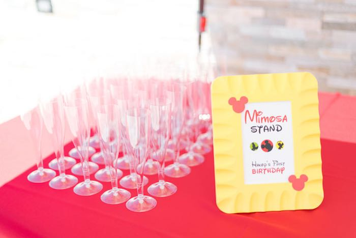 Mimosa Stand from a Mickey & Friends Birthday Party via Kara's Party Ideas   KarasPartyIdeas.com (4)