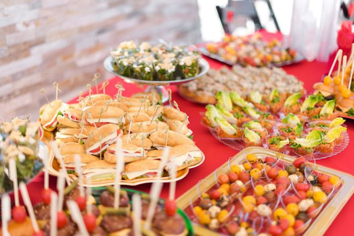 Food Table from a Mickey & Friends Birthday Party via Kara's Party Ideas | KarasPartyIdeas.com (2)