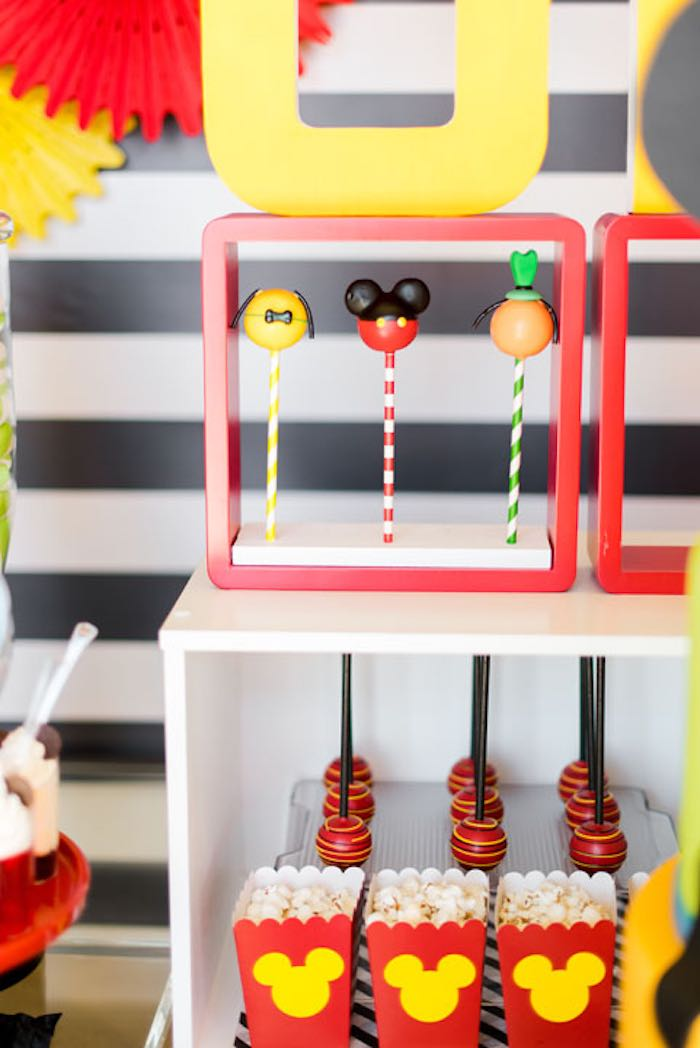 Sweets + Snacks from a Mickey & Friends Birthday Party via Kara's Party Ideas   KarasPartyIdeas.com (27)