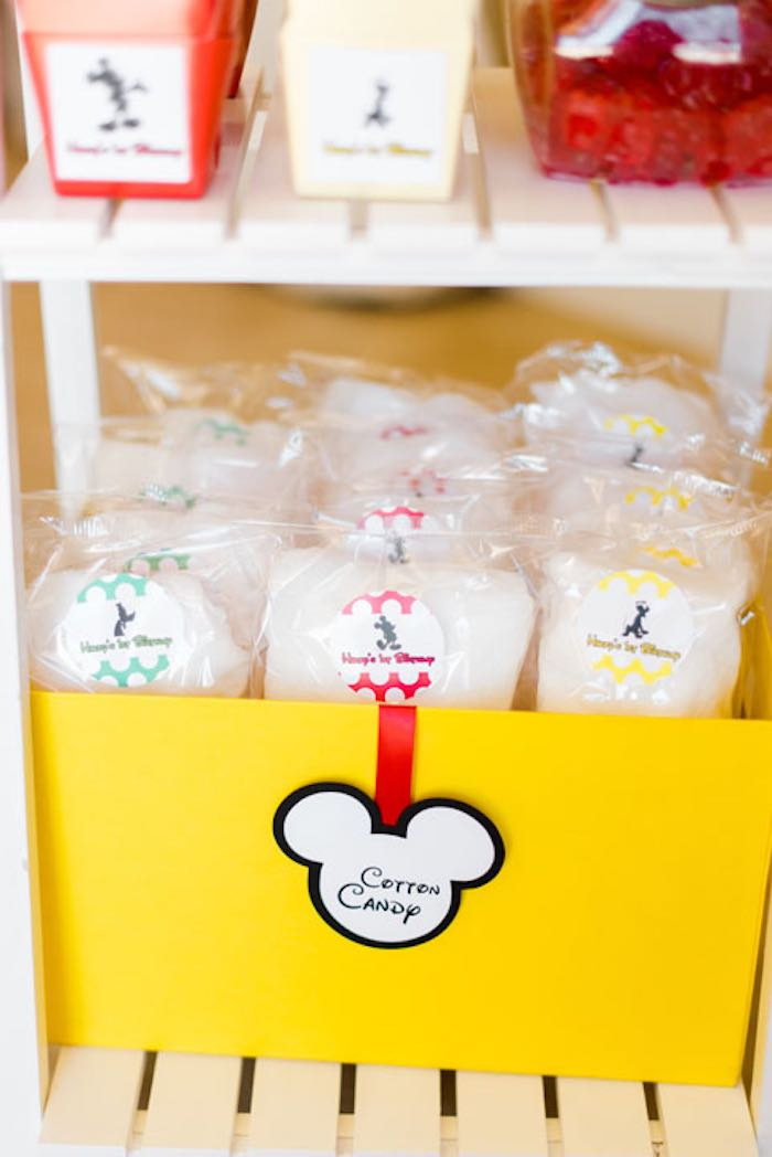 Cotton Candy Favors from a Mickey & Friends Birthday Party via Kara's Party Ideas | KarasPartyIdeas.com (24)