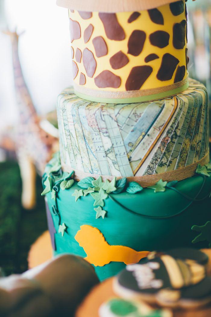 Cake Detail from a Safari Birthday Party via Kara's Party Ideas | KarasPartyIdeas.com (37)
