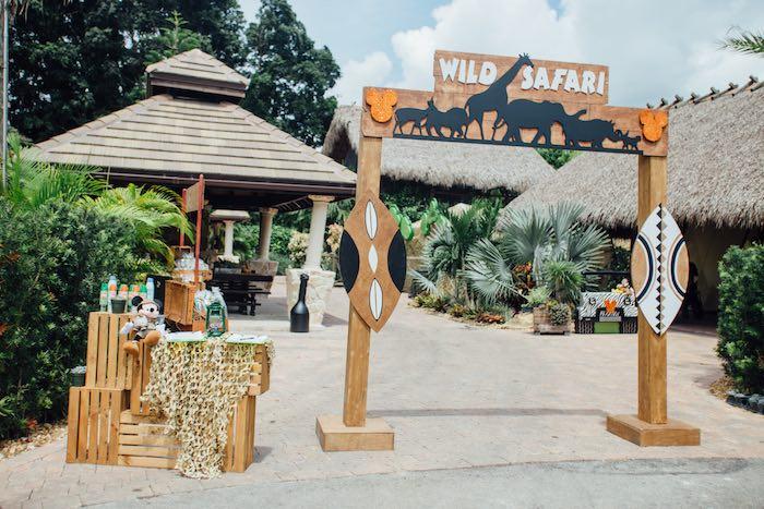 Entrance to a Safari Birthday Party via Kara's Party Ideas | KarasPartyIdeas.com (54)