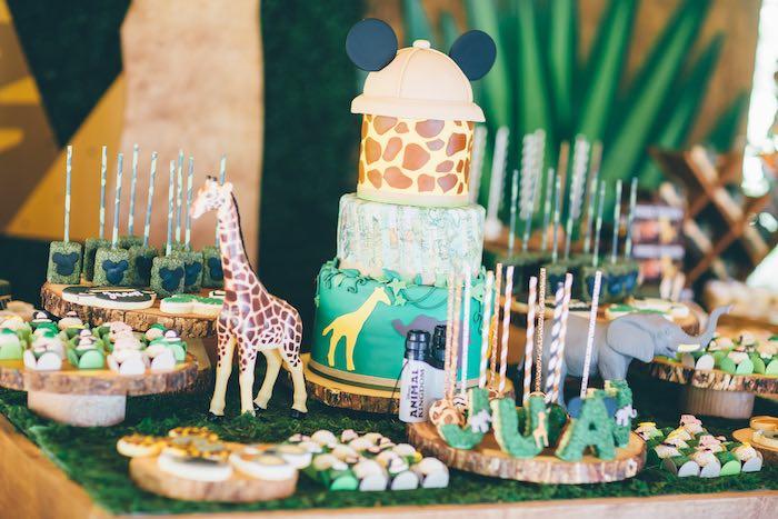 Dessert Table Details from a Safari Birthday Party via Kara's Party Ideas | KarasPartyIdeas.com (36)