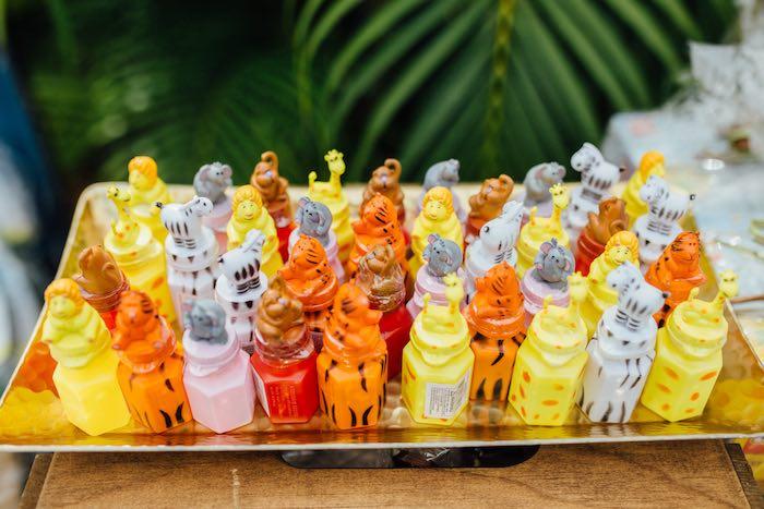 Safari Animal Bubble Favors from a Safari Birthday Party via Kara's Party Ideas | KarasPartyIdeas.com (30)