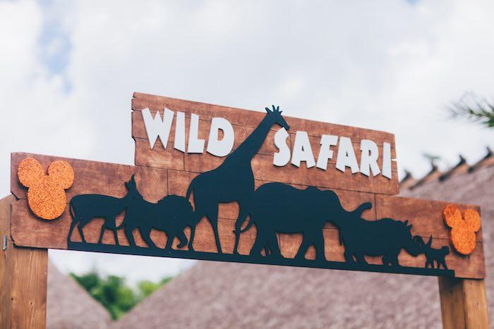Entrance Sign from a Safari Birthday Party via Kara's Party Ideas | KarasPartyIdeas.com (28)