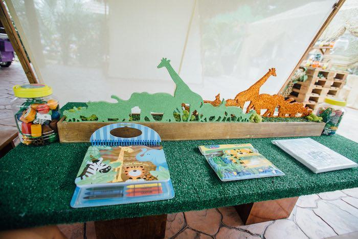 Activity Table from a Safari Birthday Party via Kara's Party Ideas | KarasPartyIdeas.com (52)