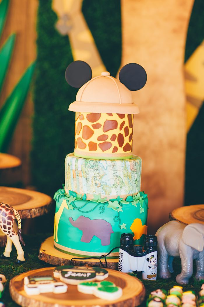 Karas Party Ideas Mickey Mouse Jungle Safari Birthday