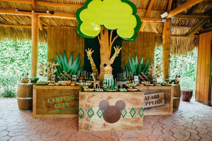 Karas Party Ideas Mickey Mouse Jungle Safari Birthday Party