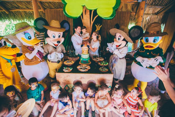 Kara S Party Ideas Mickey Mouse Jungle Safari Birthday