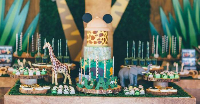 Sweet Table Details from a Safari Birthday Party via Kara's Party Ideas | KarasPartyIdeas.com (4)
