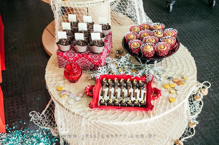 Table of Sweets from a Mickey Mouse Pirate Themed Birthday Party via Kara's Party Ideas - KarasPartyIdeas.com (38)
