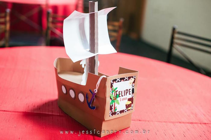 Pirate Ship Centerpiece from a Mickey Mouse Pirate Themed Birthday Party via Kara's Party Ideas - KarasPartyIdeas.com (35)