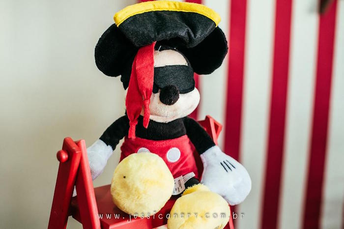 Mickey Mouse Pirate from a Mickey Mouse Pirate Themed Birthday Party via Kara's Party Ideas - KarasPartyIdeas.com (30)