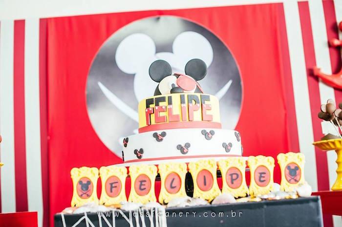 Cake from a Mickey Mouse Pirate Themed Birthday Party via Kara's Party Ideas - KarasPartyIdeas.com (28)