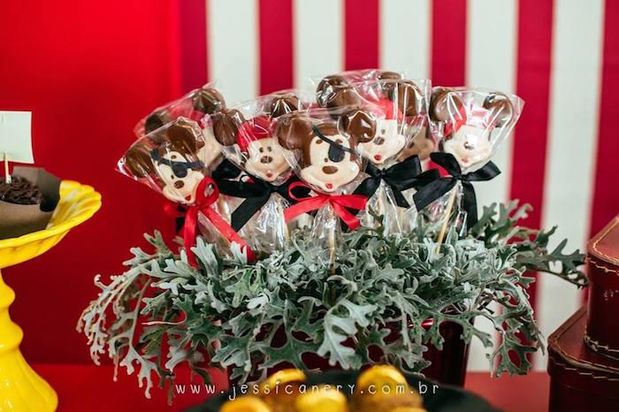 Chocolate Mickey Pops from a Mickey Mouse Pirate Themed Birthday Party via Kara's Party Ideas - KarasPartyIdeas.com (24)