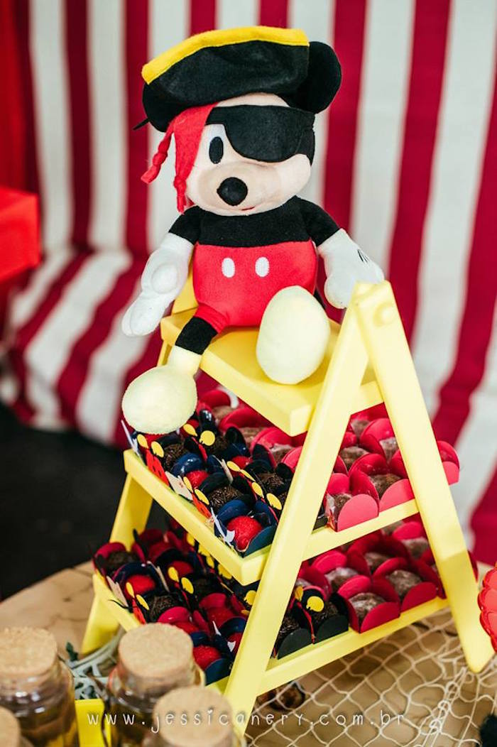 Sweet Display from a Mickey Mouse Pirate Themed Birthday Party via Kara's Party Ideas - KarasPartyIdeas.com (18)