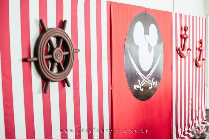 Dessert Table Backdrops from a Mickey Mouse Pirate Themed Birthday Party via Kara's Party Ideas - KarasPartyIdeas.com (14)