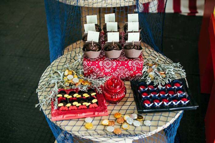 Sweet Table Details from a Mickey Mouse Pirate Themed Birthday Party via Kara's Party Ideas - KarasPartyIdeas.com (11)