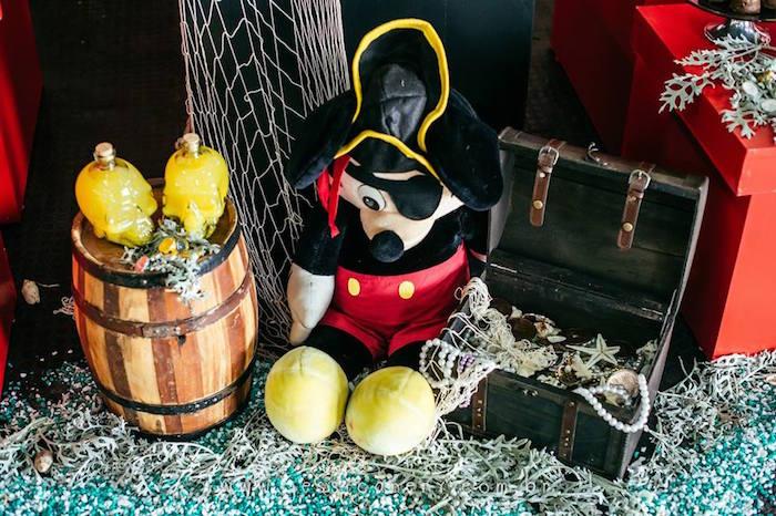 Decor Pieces from a Mickey Mouse Pirate Themed Birthday Party via Kara's Party Ideas - KarasPartyIdeas.com (4)