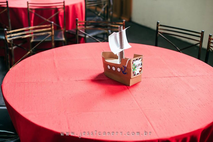 Guest Table from a Mickey Mouse Pirate Themed Birthday Party via Kara's Party Ideas - KarasPartyIdeas.com (49)